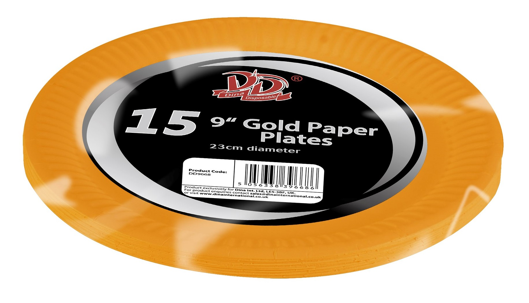 """15pc 9"""" gold paper plates"""